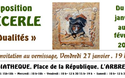 Exposition Decerle – Invitation au vernissage 27/01