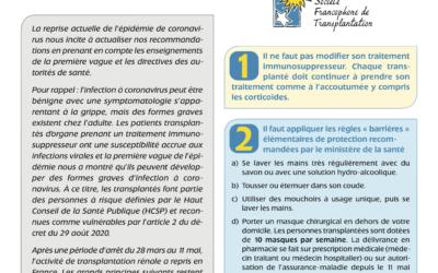 COVID-19 : Dernières recommandations